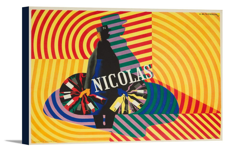 Le Spectacle Est Dans La Rue – Nicolas ( Book、Illus )ポスター(アーティスト: Cassandre )フランスC。1935 36 x 24 Gallery Canvas LANT-3P-SC-60987-24x36 B0184AX1EO  36 x 24 Gallery Canvas