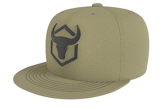 Iron Bull Strength Snapback - Adjustable Hat - Flat Bill Baseball Cap Snap Hats (Army Green) at Amazon Mens Clothing store: