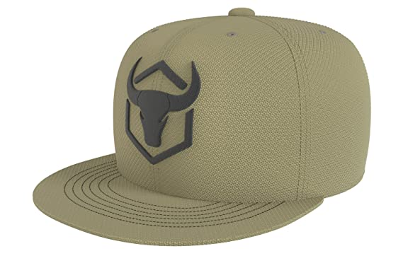 Iron Bull Strength Snapback - Adjustable Hat - Flat Bill Baseball Cap Snap Hats (Army