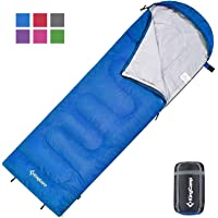 KingCamp Envelope Sleeping Bag 3 Seasons Sleeping Bag, Great for Kids, Boys, Girls, Teens and Adults Compact Waterproof Sleeping Bag with Compression Sack for Backpacking, Camping and Hiking