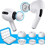 [6 Pairs] RIYO Silicone Ear Tips for AirPods Pro, Non-Slip Silicone Ear Buds with Fit in The Charging Case (S/M/L, White)