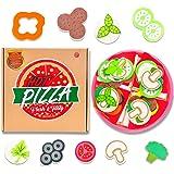 aGreatLife Set Gioco Pizza Set Cibo Giocattolo di Alta Qualità per Bambini da 3 Anni in su