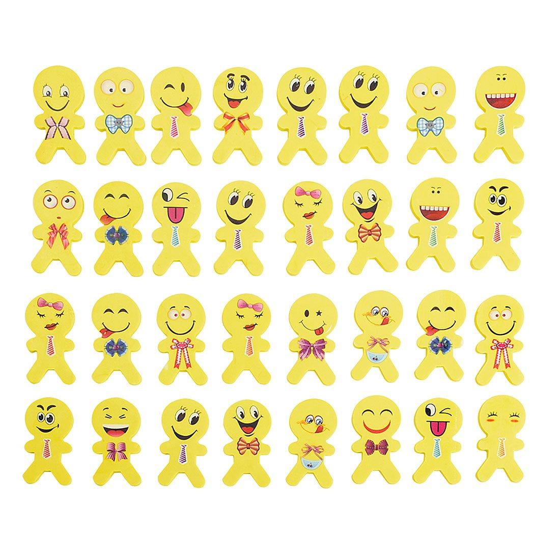Lote de 60 l/ápices de goma con dise/ño de emoticonos 60 emoji-2 Emoji