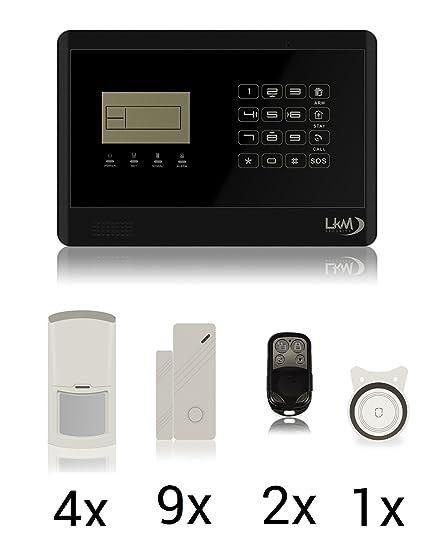 LKM Seguridad wg-yl007 M2E + 8S + 4PIR 01 M2E inalámbrica de ...