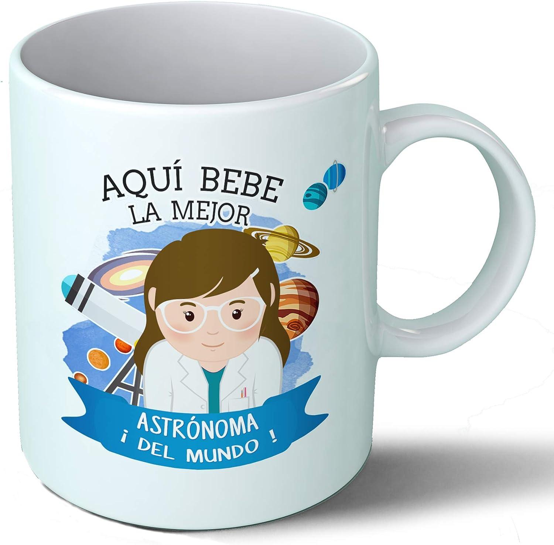 Planetacase Taza Desayuno Aquí Bebe la Mejor astronoma del Mundo Regalo Original astronomia Ceramica 330 mL: Amazon ...