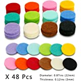 48 Pcs Essential Oil Diffuser Locket Necklace Refill Pads / Car Diffuser Aromatherapy Diffuser Necklace Replacement Pads for 30mm Car Diffuser vent Highly Absorbent for Aroma Diffuser Pendant Necklace