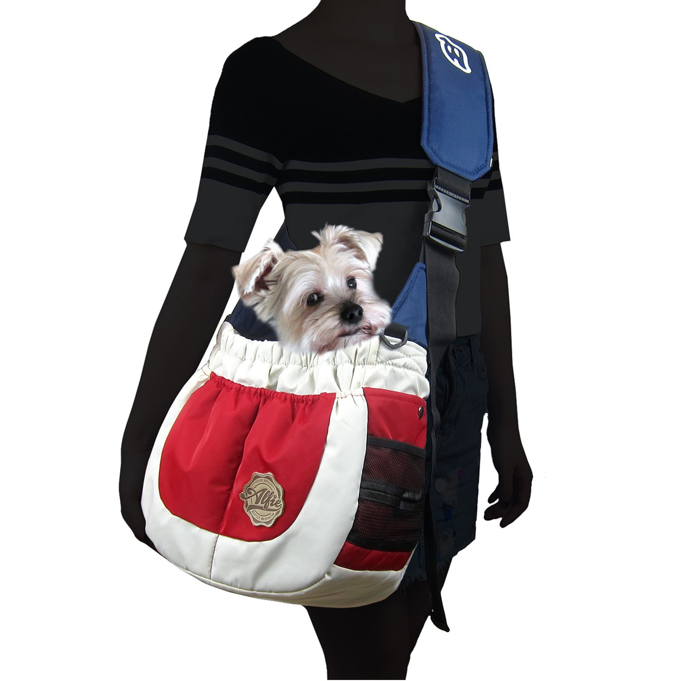 Red White and bluee Alfie Pet by Petoga Couture Hayden Pet Sling Carrier