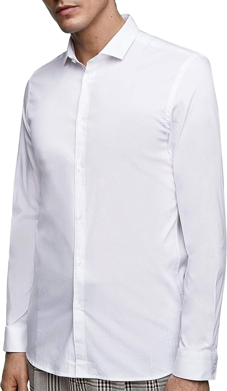 Zara 3894/450 - Camisa de Popelina para Hombre - Blanco - Small: Amazon.es: Ropa y accesorios