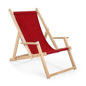 Amazonde Gartenliege Strandliege Liegestuhl Aus Holz Sonnenliege N