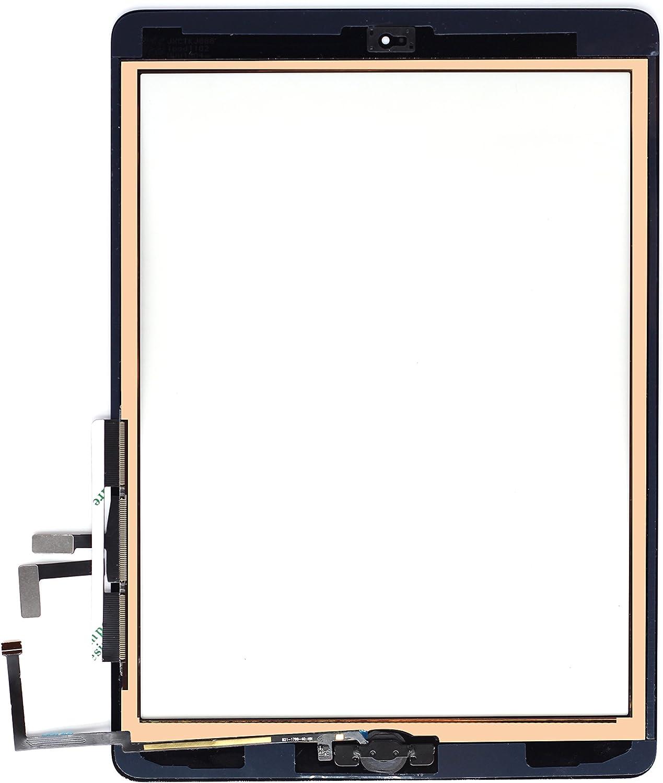 A1475 A1476 Dazone Pantalla t/áctil de repuesto para iPad Air A1474 Wi-Fi color blanco
