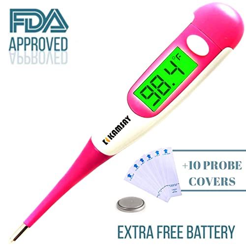 Best 2017 FDA Digital Medical Thermometer, Easy Accurate and Fast 10 Second Read & Monitor