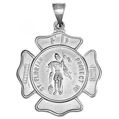 6ab6fca6fb7 Amazon.com: Saint Florian Religious Medal - 1 Inch (25mm) Sterling Silver:  Pendants: Jewelry