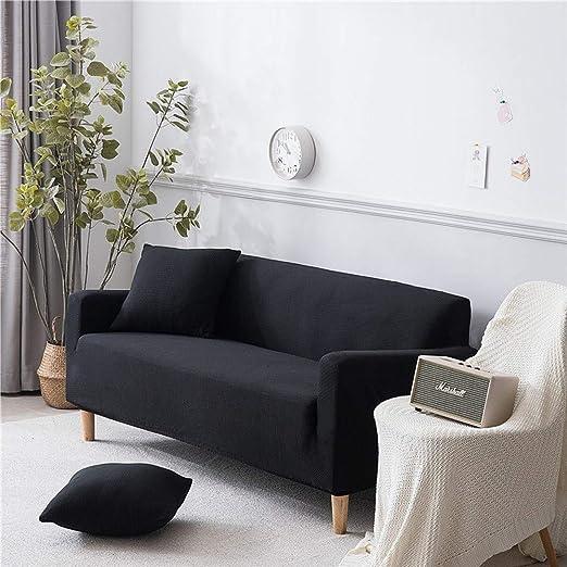 CHYOOO Funda De Sofa Color Sólido, Simple, Antideslizante ...