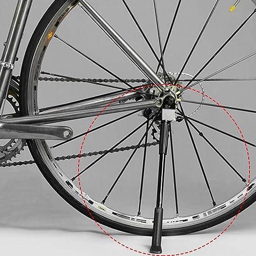 Cavalletto per Bicicletta Regolabile Bici Cavalletto in Lega di Alluminio con Tampone Antiscivolo per Mountain Bike Universale per Biciclette da 26//27.5//29 pollici