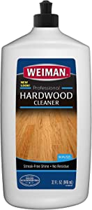 Weiman Hardwood Floor Cleaner - 32 Ounce - Non-toxic for Finished Hardwood Oak Maple Cherry Birch Engineered - Professional Safe Streak-free