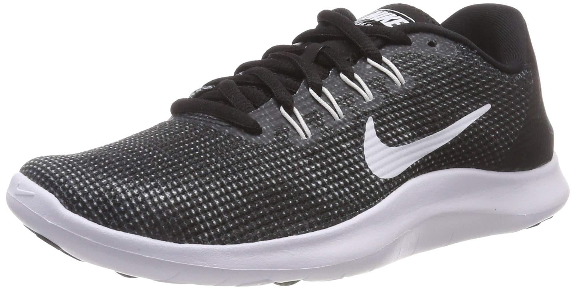 017477f3a779c Nike Women's Flex RN 2018 Running Shoe (10, Black/White)