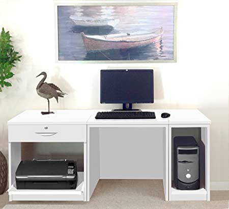 R. White Cabinets set-10-in pequeño Ordenador portátil Impresora ...