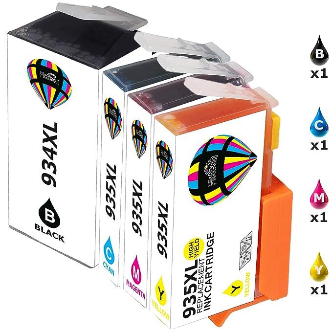 Pictech reemplazo para HP 934XL 935XL Cartuchos de tinta para HP ...