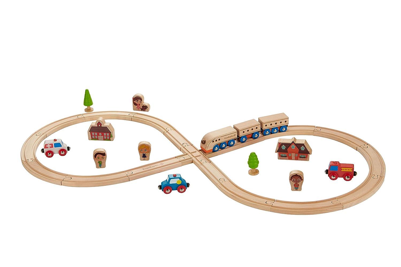 EverEarth Eisenbahn-Tisch + Eisenbahn-Set Bauernhof EE33723