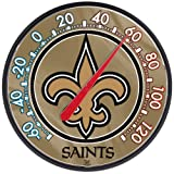 New Orleans Saints Official NFL 12.75 inch diameter Outdoor Thermometer