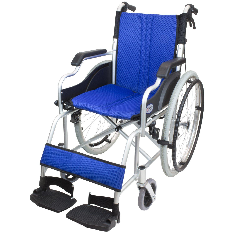 ケアテックジャパン 自走式車椅子 ハピネスコンパクト CA-10SUC (ブルー) B079T2X2W3  ブルー