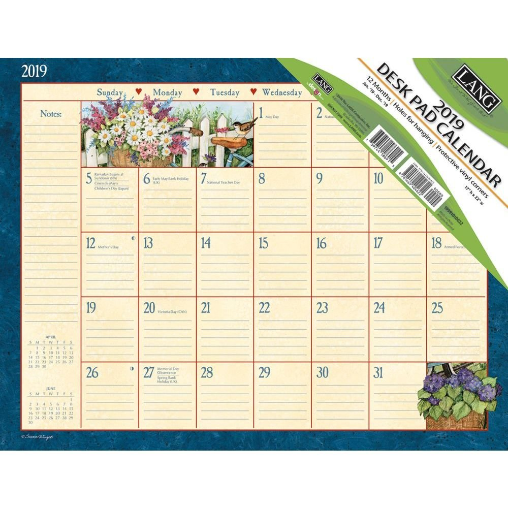 The Lang Companies Heart & Home 2019 Desk pad (19991010022)