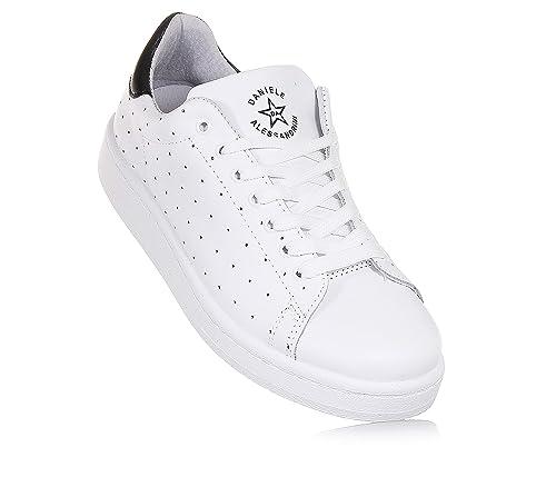 614e7fa3ee Daniele Alessandrini - Sneaker Bassa Bianca, in Pelle Traforata ...