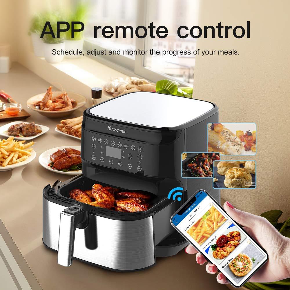 proscenic T21 Freidora de Aire Caliente sin Aceite 5.5L controlada por App y Alexa