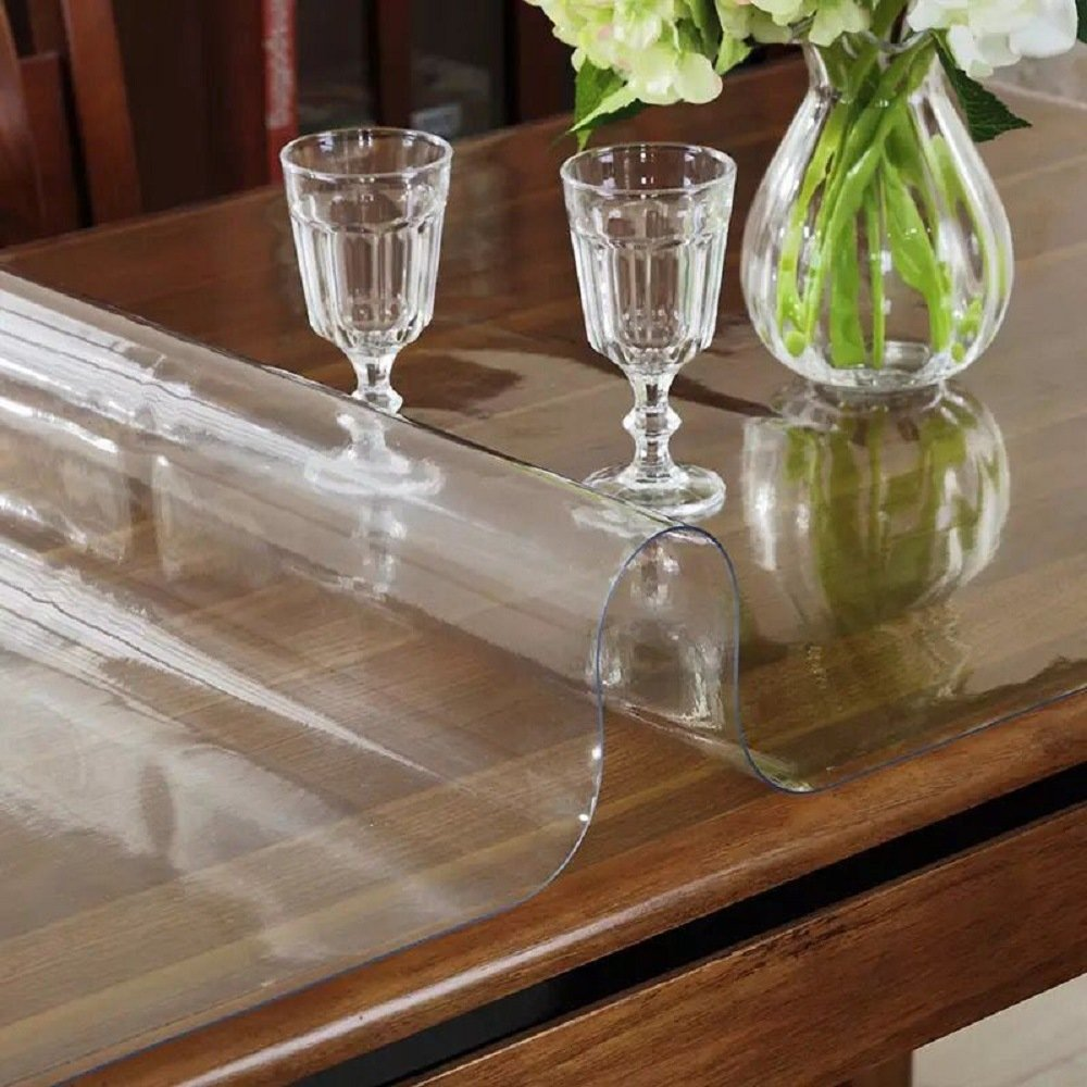 LovePads Multi Size 2mm Thick Custom Clear PVC Table Cover Protector | Desk Mat 42'' x 120'' by DiscoverDecor (Image #2)