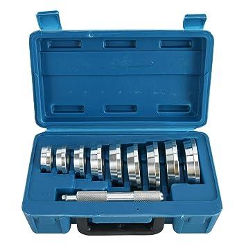 FreeTec 10 Piezas Herramientas de Aluminio para rodamientos de Eje y Sellado Profesional Herramienta de Rodamiento de Rueda Arrancador Extractor Set ...
