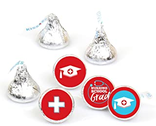 product image for Big Dot of Happiness Nurse Graduation - Medical Nursing Graduation Party Round Candy Sticker Favors - Labels Fit Hershey's Kisses (1 Sheet of 108)