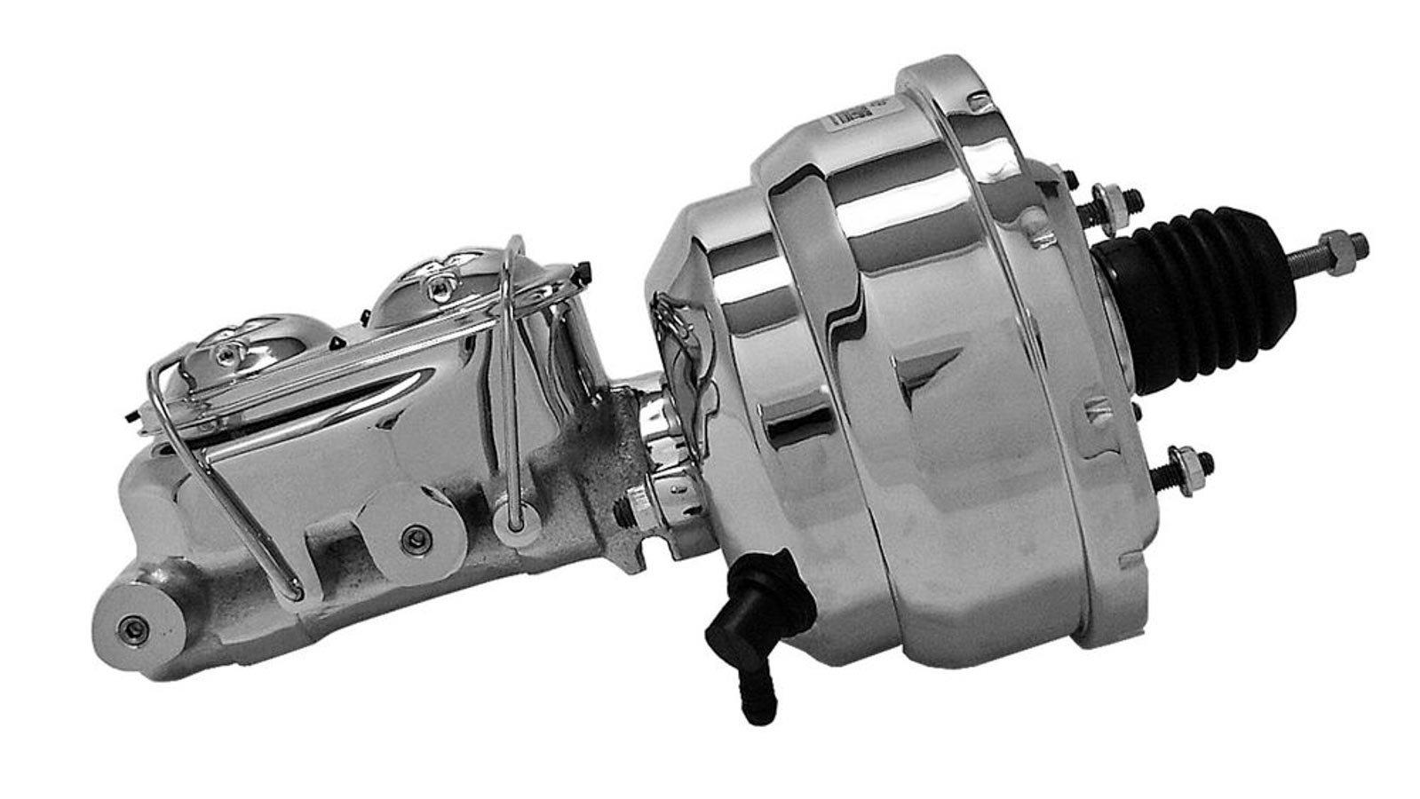 Tuff Stuff 2123NA1 8'' Chrome Brake Booster with 2020NA Master Cylinder