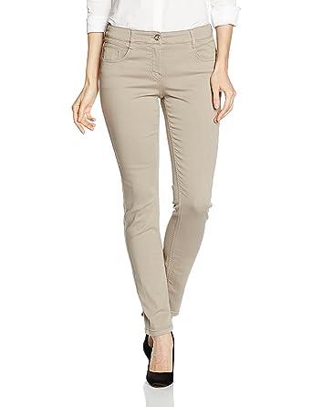 Womens Zuri Slim Trouser, Beige (Beige 12), 10 (Manufacturer Size: 36) Gardeur