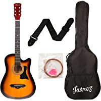 Juarez JRZ38C/3TS Acoustic Guitar, 38 Inch Cutaway with Bag (3TS Sunburst)
