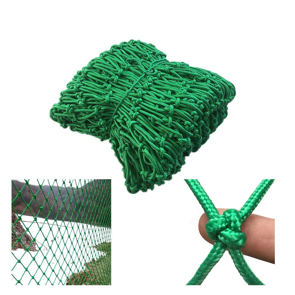 Safety Net for Children Staircase Balcony Protection Net Cat Net Green Decorative Net Indoor Anti-Fall Net Railing Net Suitable for Window Kindergarten Wall (Size : 2x6m)