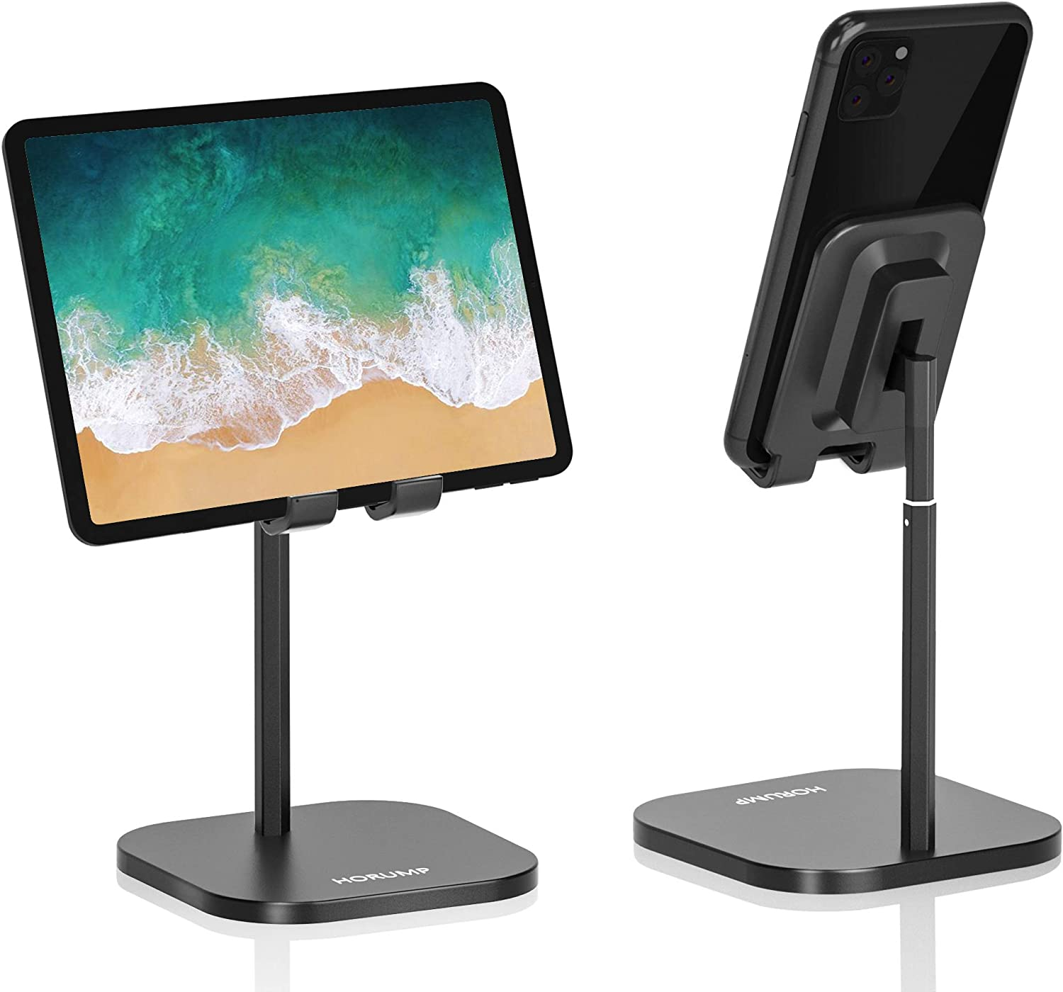 Cell Phone Stand for Desk, HORUMP Angle Height Adjustable Phone Holder Stand for Desk, Compatible with All Mobile Phones/Tablet