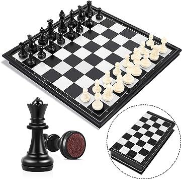 Peradix Tablero Ajedrez Magnético,Juego de ajedrez de Rompecabezas 25 X 25CM Plegable y fácil de Llevar,Juego ajedrez para niños y Adultos, Juegos al Aire Libre o Regalos: Amazon.es: Juguetes y juegos