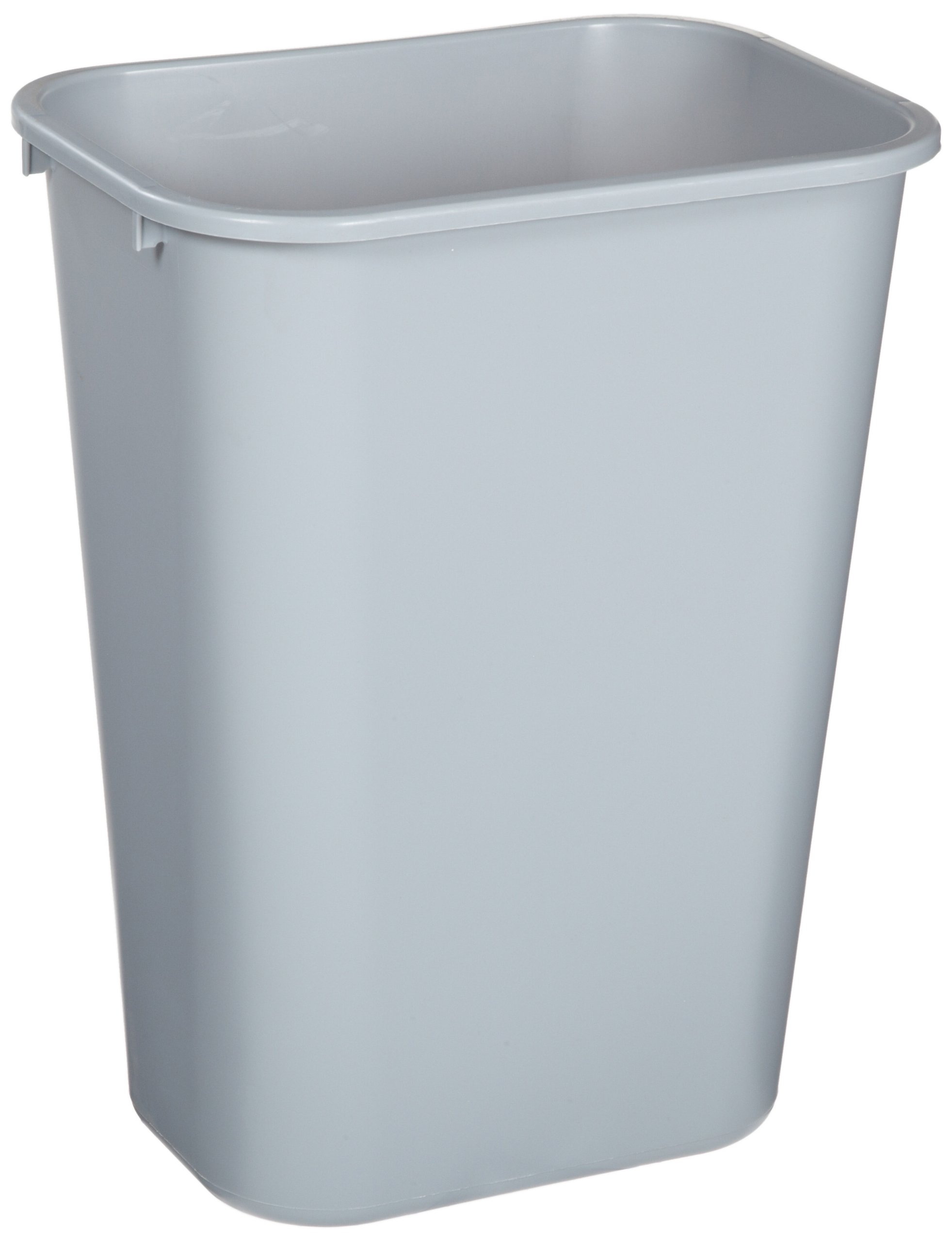Rubbermaid Commercial Products FG295700GRAY Plastic Resin Deskside Wastebasket, 10 Gallon/41 Quart, Gray (Pack of 12)