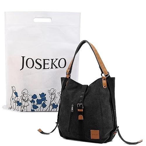 d1f9acfee JOSEKO Fashion Shoulder Bag Rucksack, Canvas Multifunctional Casual Handbag  Travel Backpack for Women Girls Ladies