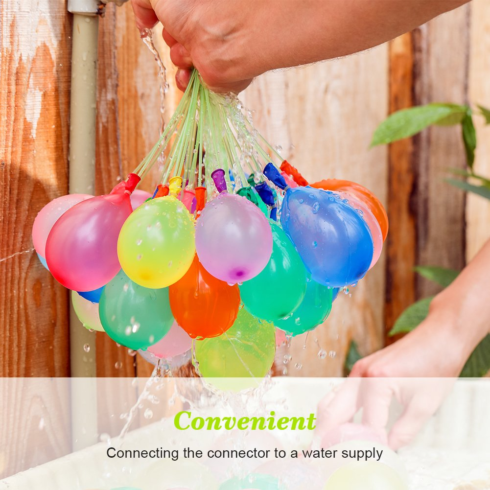 MAOXIAN Water Balloons for Kids Girls Boys Balloons Set Party Games Quick Fill Water Balloons (592 Pack) Swimming Pool Outdoor Summer Fun (Multicolored) by MAOXIAN (Image #3)