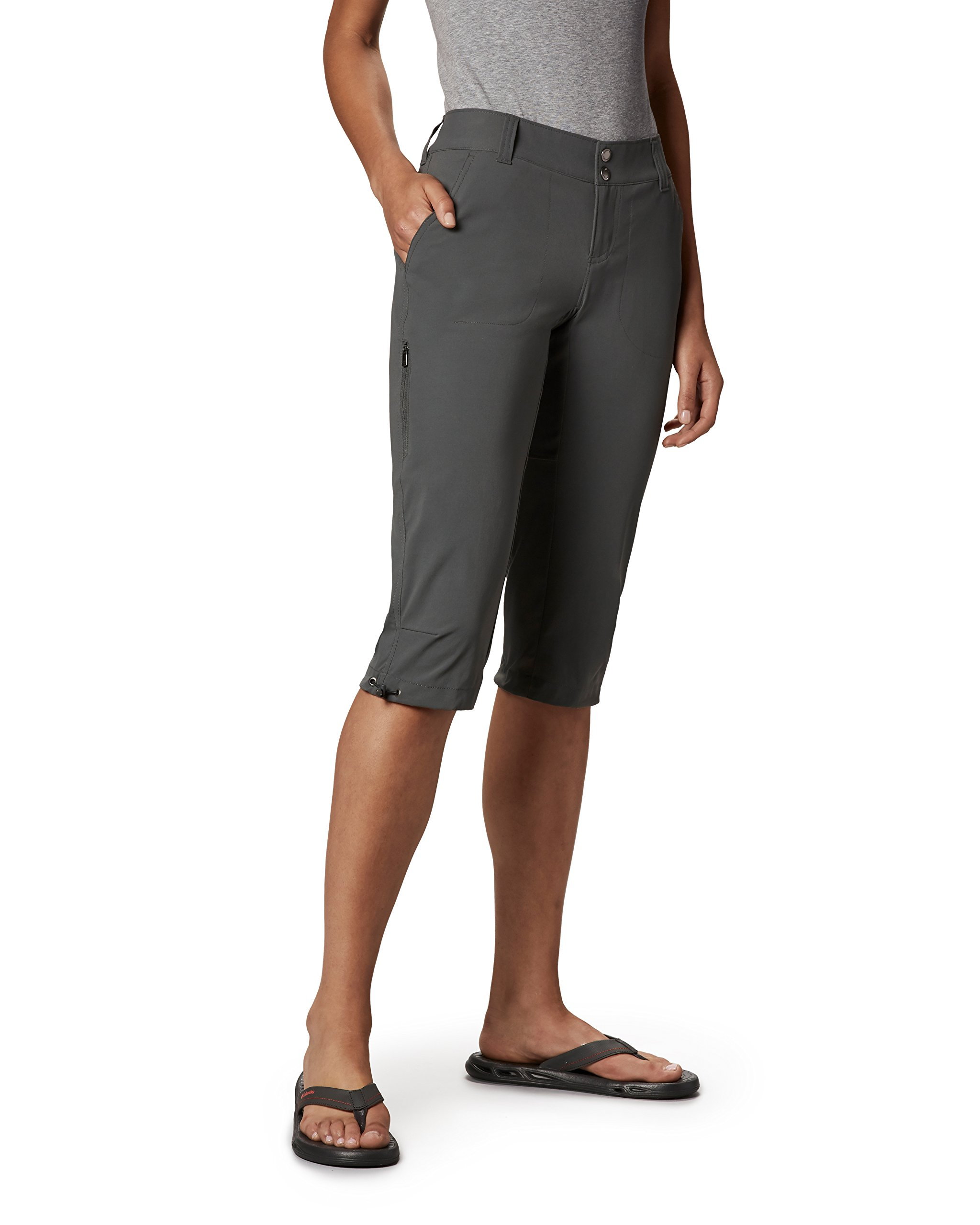 Columbia Women's Saturday Trail II Knee Pant, Water & Stain Resistant,Grill,12 X 18'' inseam by Columbia
