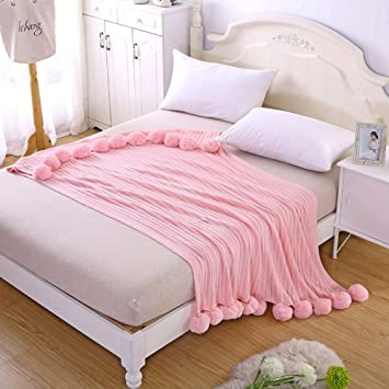 1667f43eea395 Zyurong® Pure Tricot Coton Couvre-lit Couverture
