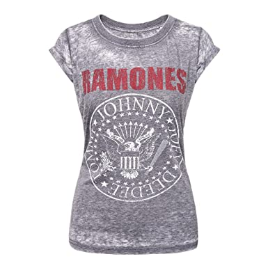 9e78bda0 Amazon.com: Ramones 'Red Logo Seal' Womens Burnout T-Shirt (large ...