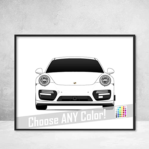 Porsche 911 Turbo (991) Poster Print Wall Art Decor Handmade Carrera S GTS Targa