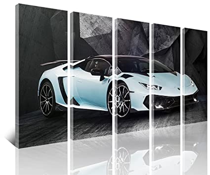 Sunfrower Art Large 60X32 Inch Various Types Big Pictures Of Lamborghinis,  Classic Car Canvas