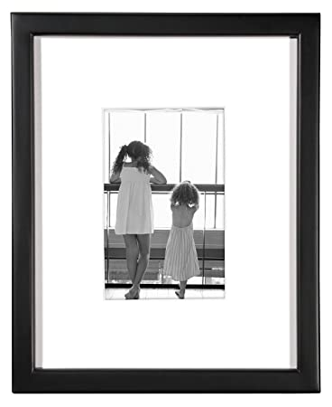 Amazoncom Mcs 8x10 Inch Frame With 4x6 Inch Mat Opening Black