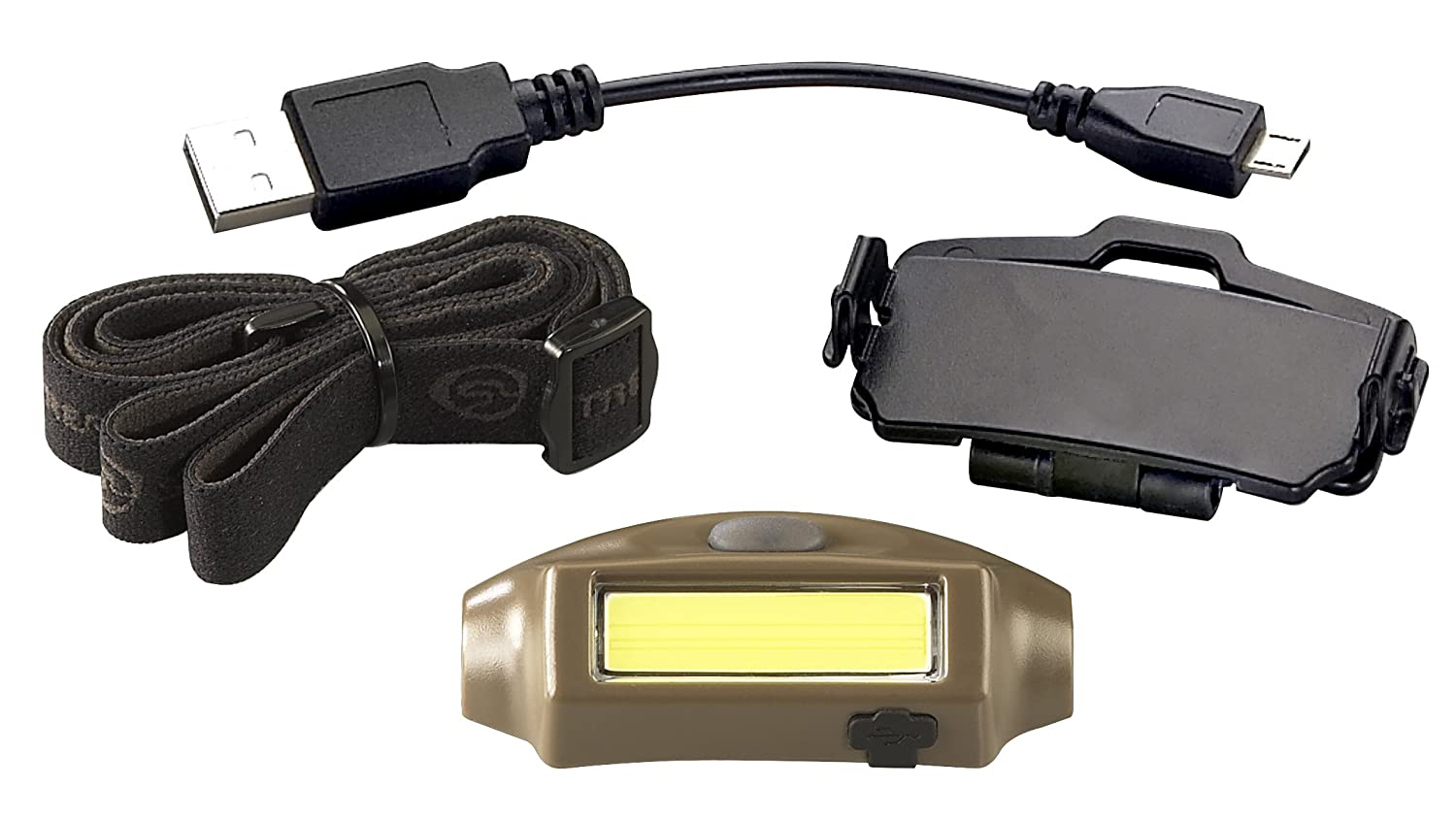 180 Lumens Blue with White LED Streamlight 61704 Bandit Includes Elastic Headstrap /& USB Cord Clam