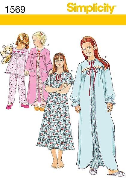 b90e6f5836 Amazon.com  Simplicity Creative Patterns 1569 Child s and Girl s ...