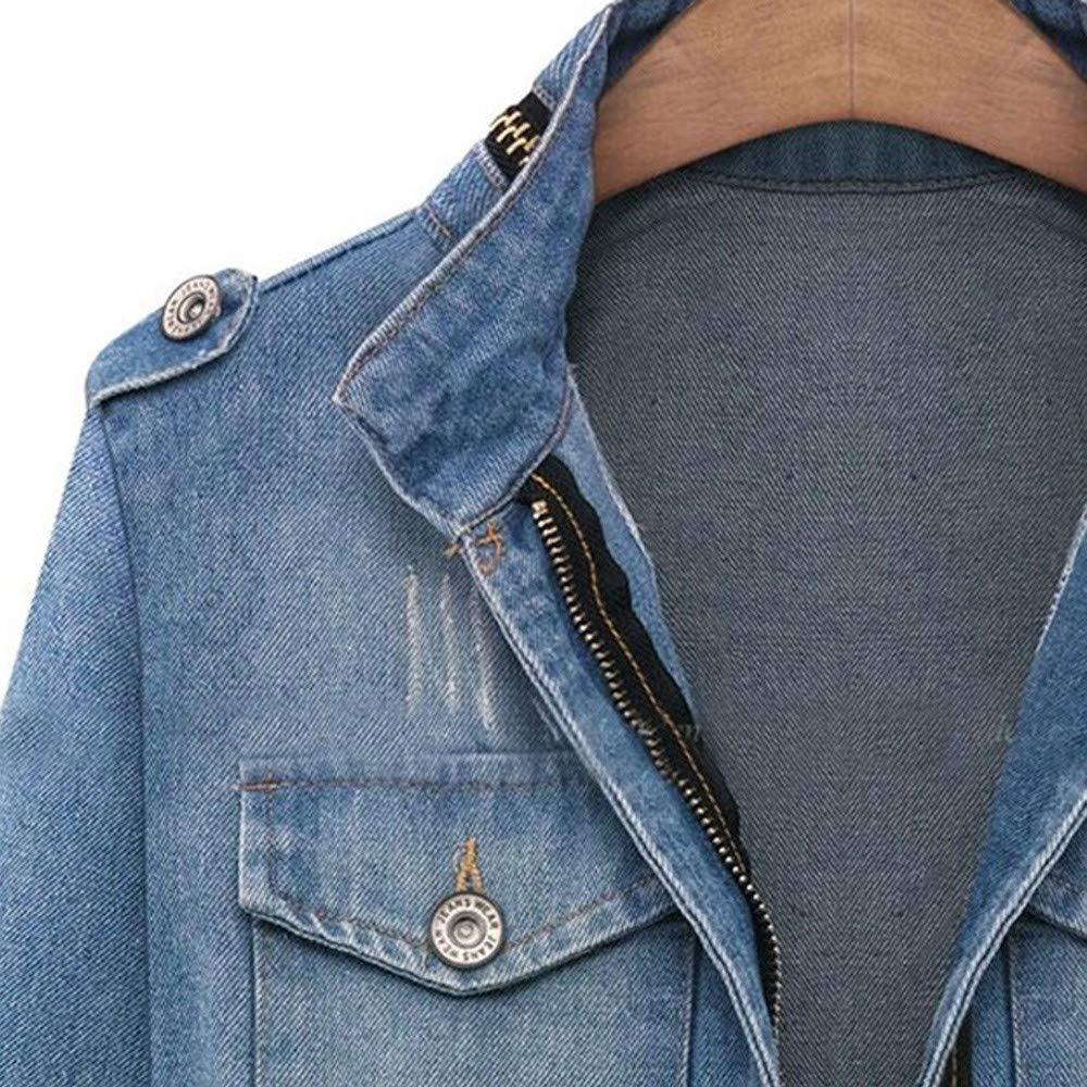Jeansblazer Frauen Blau Jeans Jacken Slim Fit Herbst /Übergangsjacke Denim Mantel M/ädchen Jeansjacke Bodycon Tops Outwear Gr.34-48 Lulupi Jeansjacke Damen Kurze Jacke