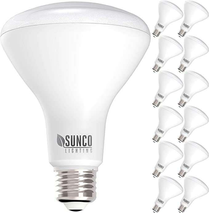 UL /& Energy Star Sunco Lighting 12 Pack BR30 LED Bulb E26 Base Dimmable 850 LM Indoor Flood Light for Cans 11W=65W 2700K Soft White